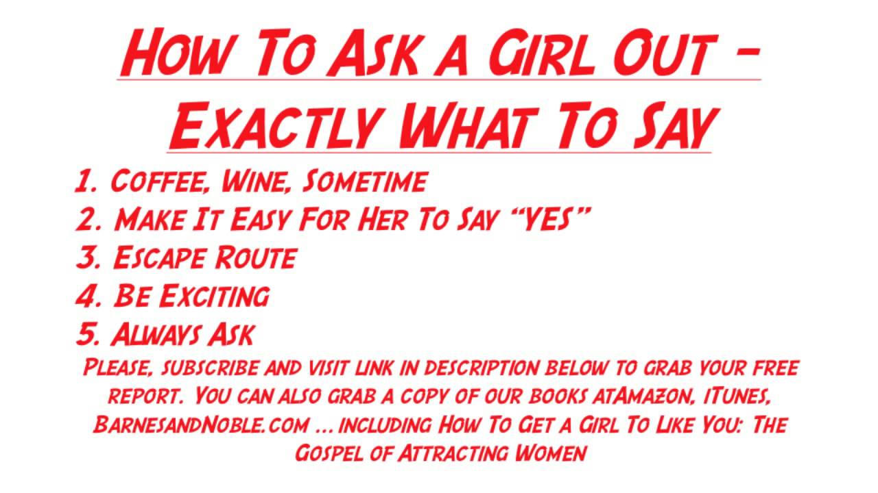 What to say to ask out a girl