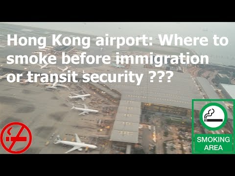 Hong Kong Airport Allows Passengers To Smoke Even Before Transit Security.