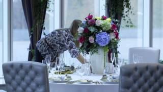 Wedding To Come: подготовка к свадьбе, вип-зал ресторана Dorchester, ЦМТ Москва(Оформление банкетного зала. Свадебная палитра