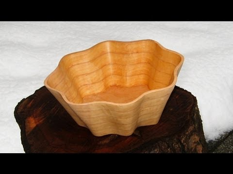 How to make a Scroll Saw Bowl - woodworking