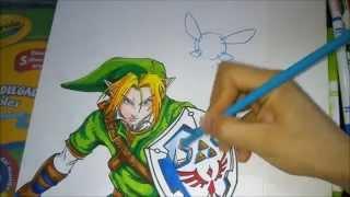 Dibujando a Link, How to draw Link, Drawing Link, Como dibujar a Link
