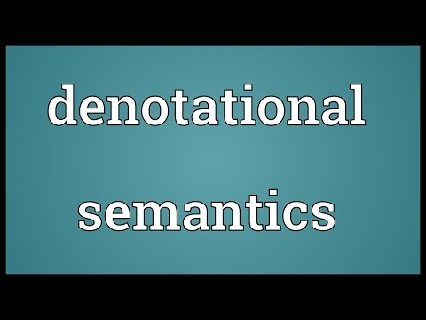 Denotational semantics Meaning