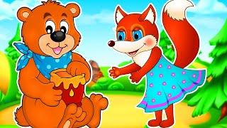 Лиса и Медведь Сказка для детеи Мультфильм для детей Машулины сказки Сказки для малышей