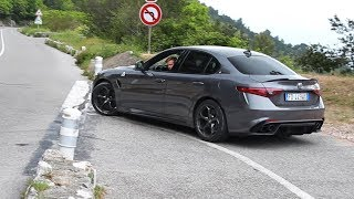 Alfa Romeo Giulia QV Quadrifoglio - Accelerations & Powerslide (& Marchettino)!