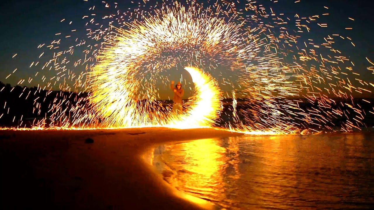 Steel Wool Firework Flame Steel Wool Fill Fabric DIY Kit Magic Fire Tricks Simulation Fireworks Celebration New Year Christmas