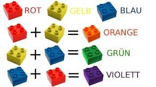 Farbenlehre lernen für Kinder, die Grundfarben und Farben Mischen (deutsch)