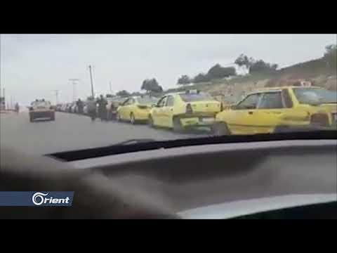 شاهد طابور طويل من سيارات الاجرة بانتظار الحصول على الوقود  في العاصمة دمشق  - 15:53-2019 / 4 / 16