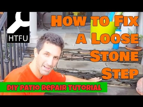 Loose Patio Stones How To Repair Stone Steps In Your Yard Securely And Ly Diy