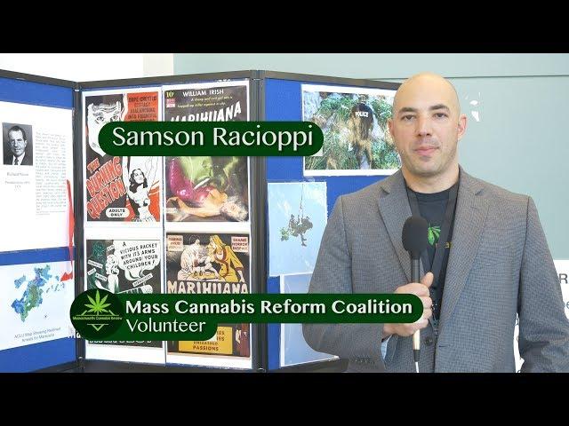 Samson Racioppi, Mass Cannabis Reform Coalition Volunteer Interview at The Harvest Cup - MassCanRev