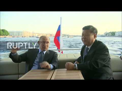 Russia: Putin and Xi enjoy Saint Petersburg attractions