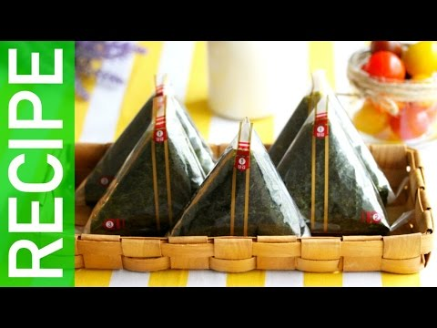 [KpopKcook + Recipe] EASY Korean Triangular Kimbap (삼각김밥 만들기)
