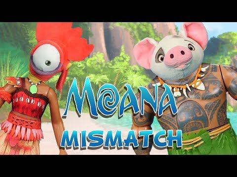 Moana | Moana Mismatch | WigglePop | Family Friendly | Kid Song