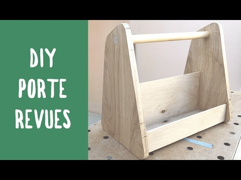 fabriquer un porte revues diy bois youtube. Black Bedroom Furniture Sets. Home Design Ideas