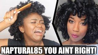 I TRIED FOLLOWING A NAPTURAL85 HAIR TUTORIAL