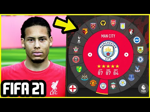 FIFA 21 NEW FEATURES (CONCEPTS) - NEW TEAM SELECT MENU + CAREER MODE FEATURES