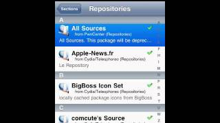 How to get all sources on cydia
