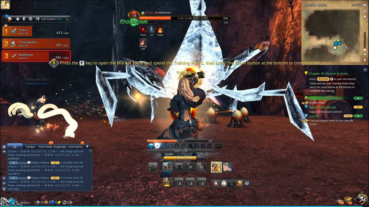 blade and soul free level 60