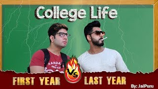 COLLEGE LIFE - First Year vs Last Year || JaiPuru