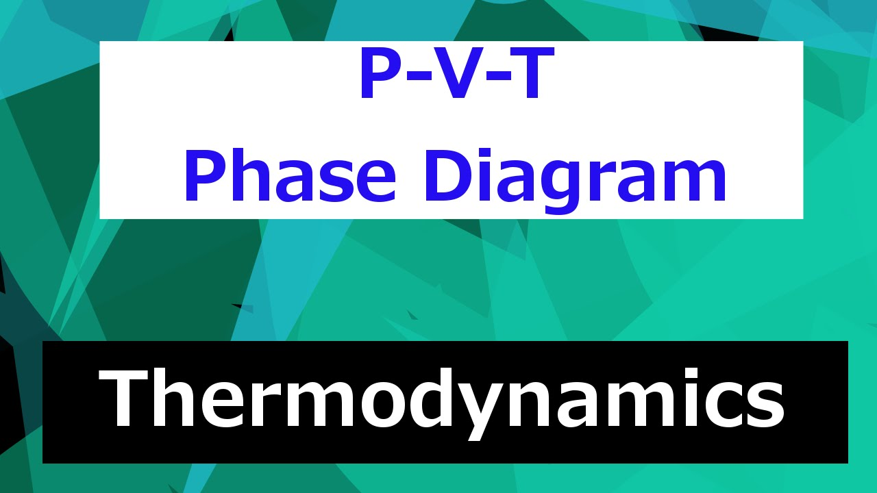 P-v-t Phase Diagram      Thermodynamics - Class 52