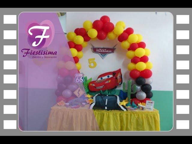 Decoración infantil Rayo McQueen Cars Videos De Viajes