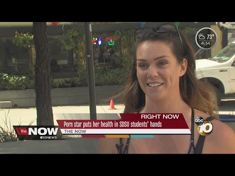Porn star speaks out against 'condom law' at San Diego State