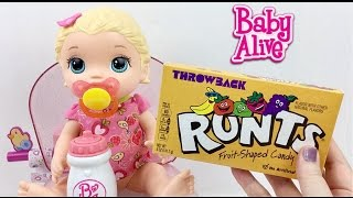 Baby Alive Super Snackin' Lily Doll Feeding with Runts Candy Potty Training