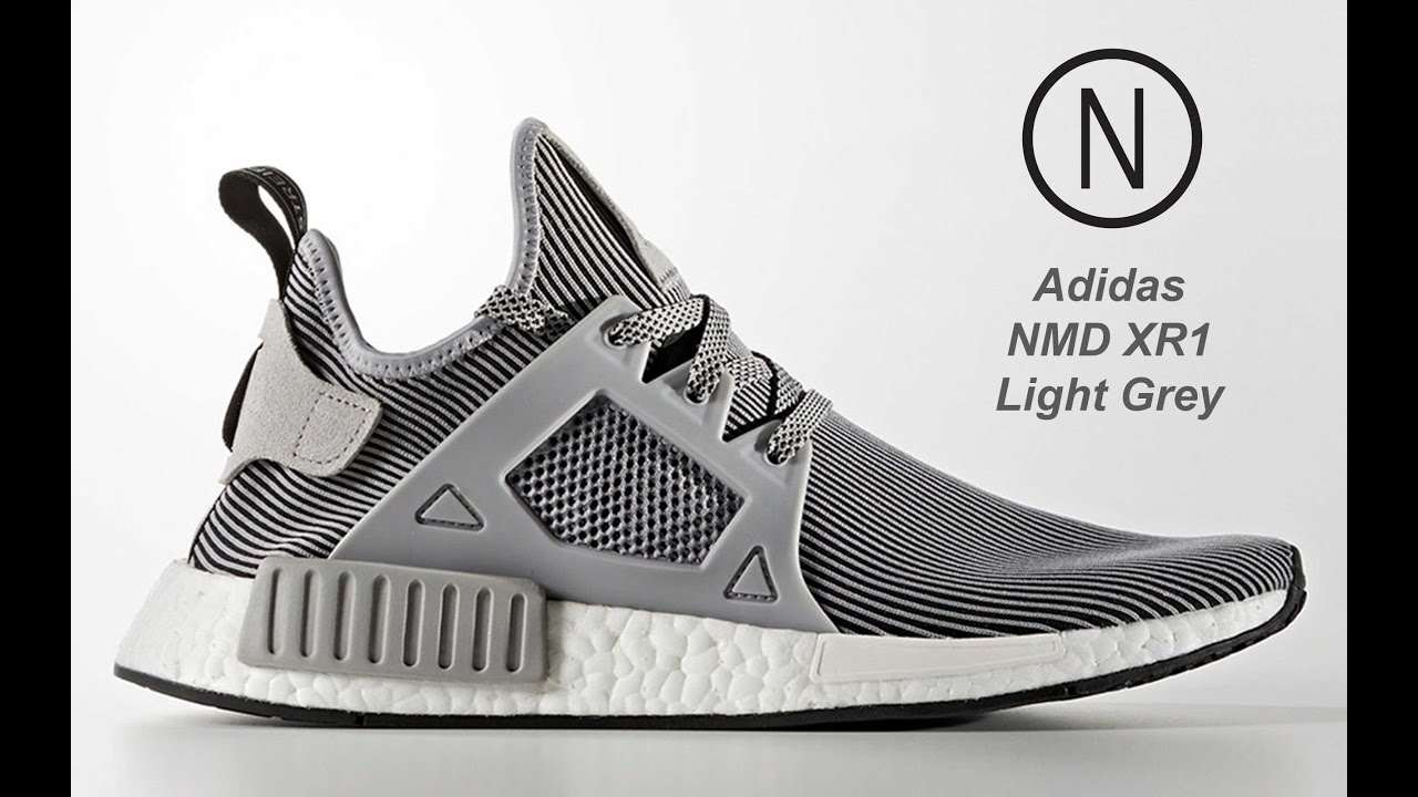 14bf06127 Adidas NMD XR1 Light Grey S32218 On Feet NOIRFONCE Sneakers - YouTube
