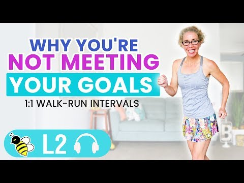 Why You're NOT Meeting Your Goals, 10 Minute Indoor Walk + Run Workout
