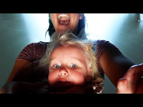 TODDLER TERRIFIED OF SLIDE!