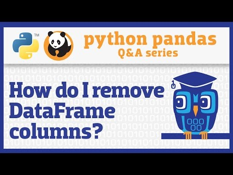 How do I remove columns from a pandas DataFrame?