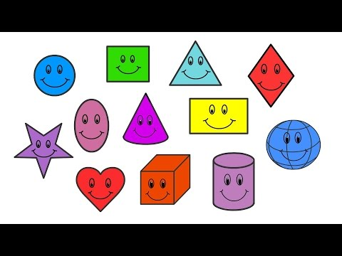 Shapes for kids in English │ Learn 12 basic shapes for children │ kids rhymes and videos