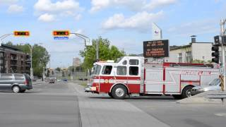LAVAL QC E-ONE FIRE TRUCK 201 RESPONDING