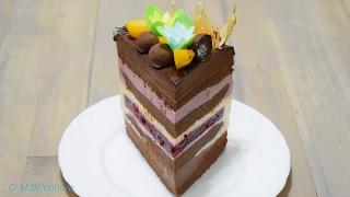 """Муссовый торт """"ЧЁРНЫЙ ЛЕС"""" /Forêt noire /Black forest"""