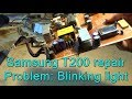 Monitor Samsung T200 (T220 & T240) blinking light and doesn't start