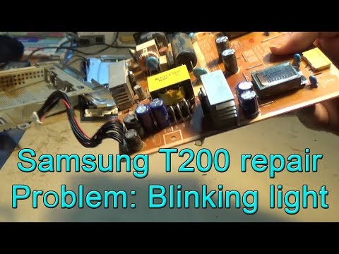 Monitor Samsung T200 (T220 \u0026 T240) Blinking Light And Doesn't Start
