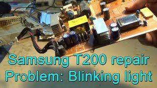 Монітор Samsung Т200 (Т220 & Т240) блимає і не запускається