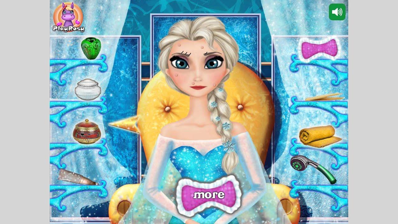 NEW мультик онлайн для девочек—Эльза новый макияж—Игры для ...