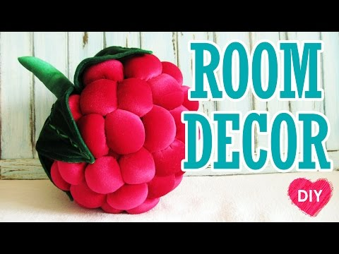 How to sew a pillow raspberries. Cute room decor. DIY.