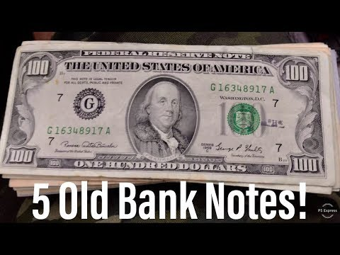 5 Old Bank Notes Found In Circulation! Bank Hunt!