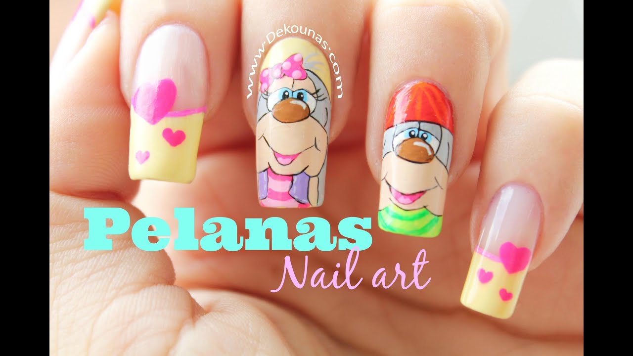 Uñas Decoradas Caricaturas Lindas Decoración De Uñas Pelanas Stuffed Animal Nails