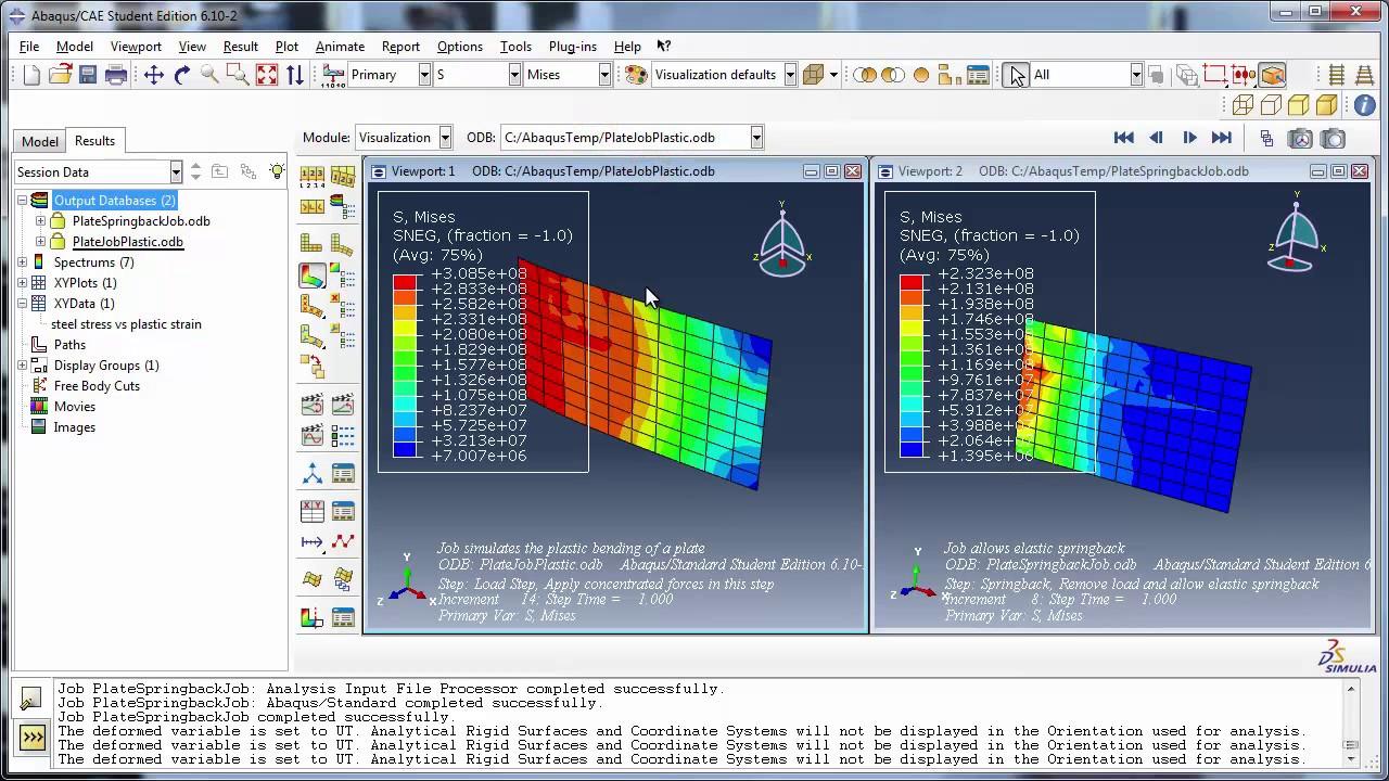 6 c) Modeling Plasticity + Restart Analysis -- Part 2 of 2 (with audio)