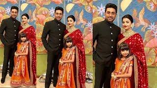 Aishwarya Rai looking so beautiful in Red Saree and sindoor at Isha Ambani Royal Wedding