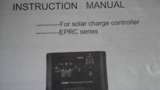 Answering a few questions on my EPRC solar charge controller .mp4