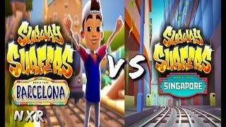 Subway Surfers 2017 Singapore VS Barcelona HD Children GamePlay