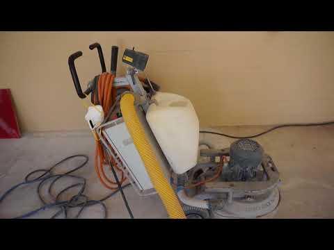 Metallic epoxy coating garage floor PREP work