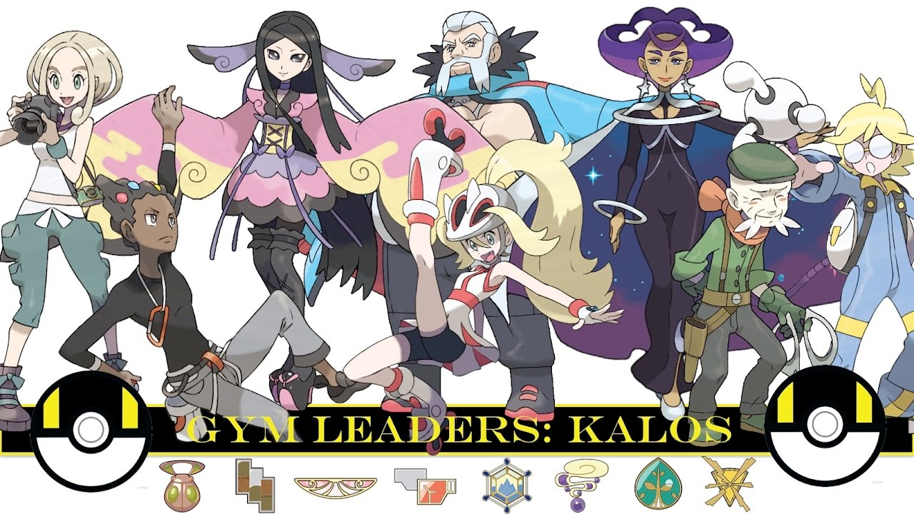 pokemon gym leaders kalos youtube