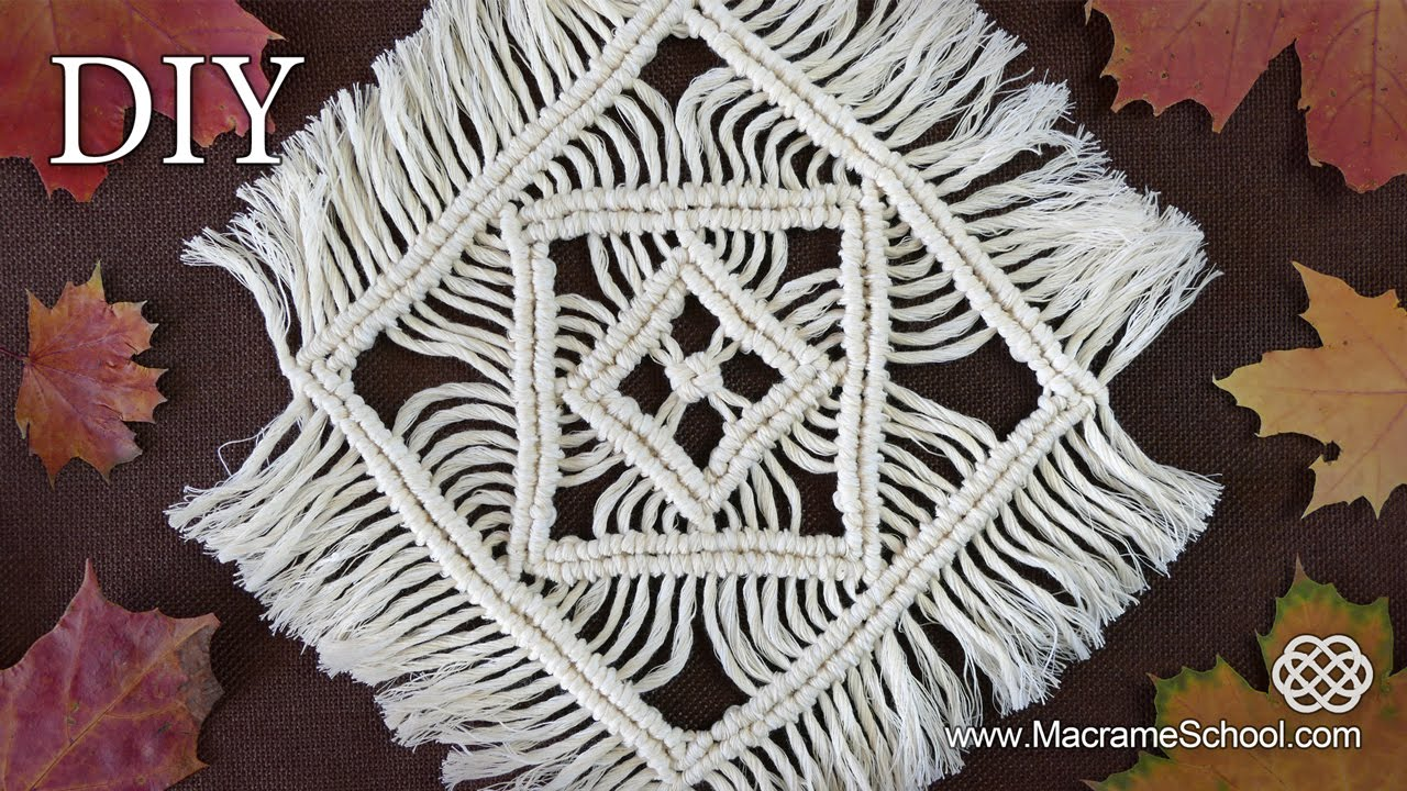 Macrame Tablecloth Tutorial Table Mats amp