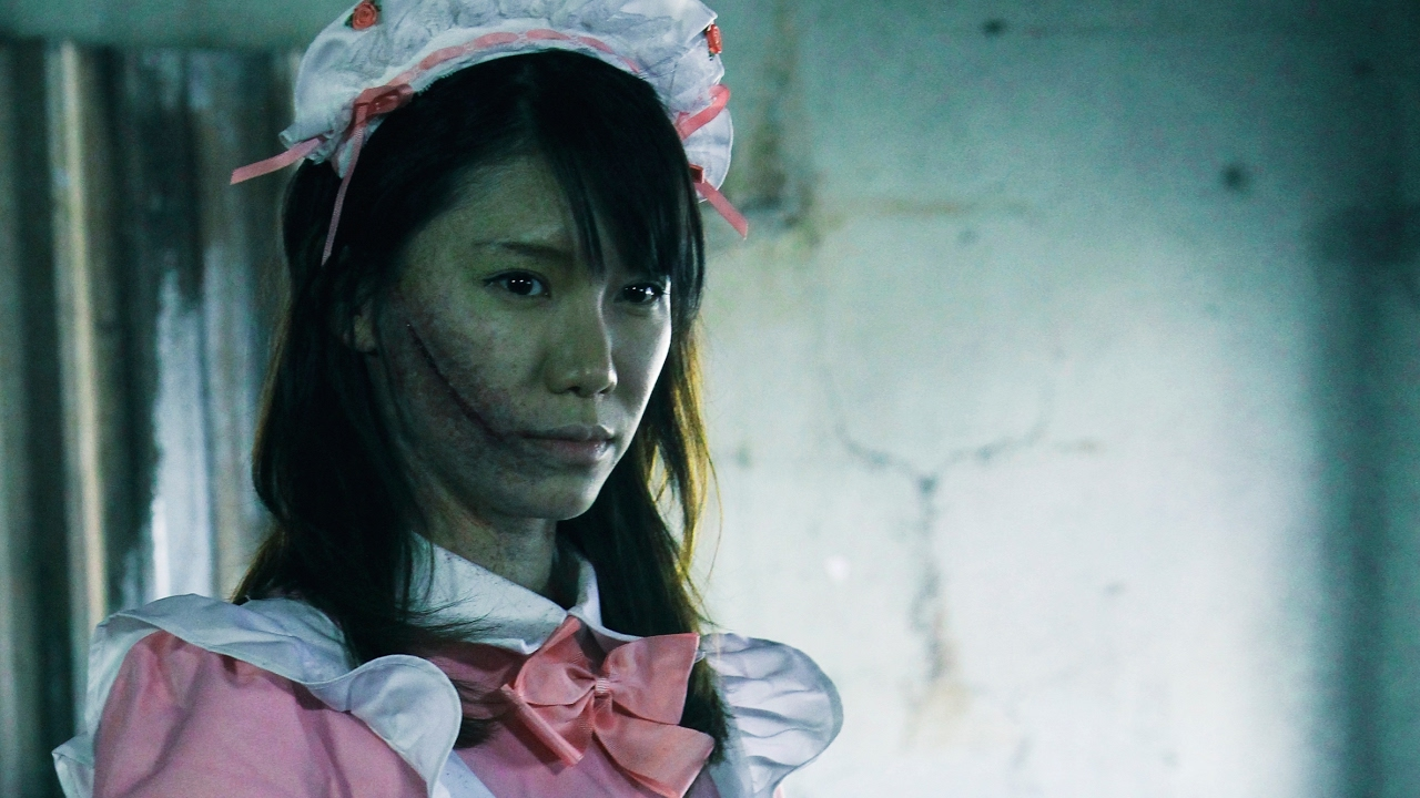 slit mouth woman in l a trailer 映画 口裂け女 in l a 海外