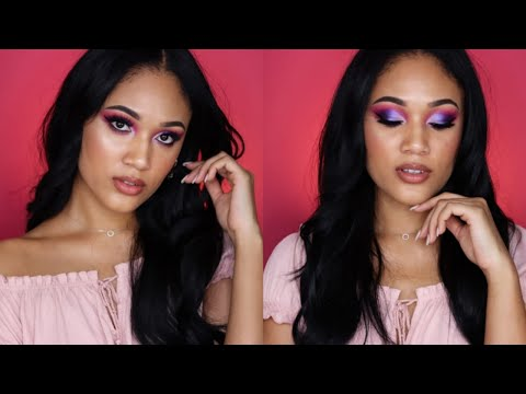 Purple Shimmer Makeup Tutorial | Life Update | SOUTH AFRICAN YOUTUBER thumbnail