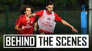 Dani Ceballos' first Arsenal training session | Bleep test, drills, rondos and more